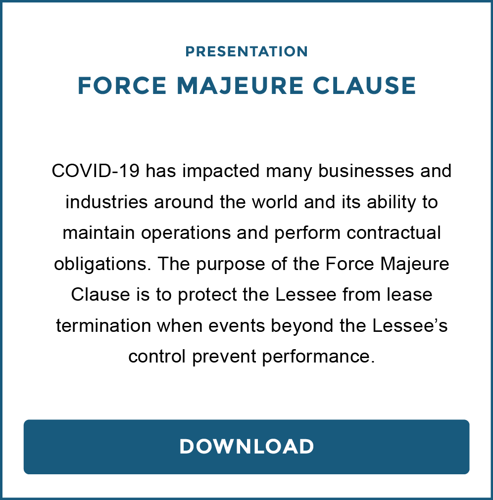 Force Majeure Clause Full Presentation